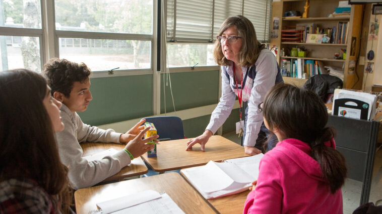 Insegnante con alunni